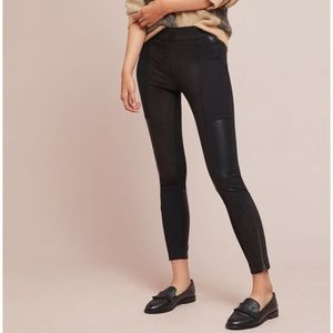 Anthropologie Vegan Leather & Ponte Leggings NWT